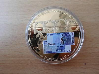 Medaille 20 Euro Banknote 50 mm Gigant  53 g