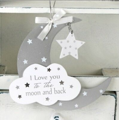 New Nursery hanging Wall Plaque twinkle twinkle grey and white gift