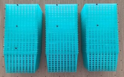 84 New Green Plastic Pint Berry Baskets Square Weave Produce