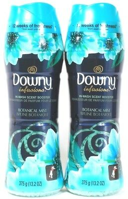 2 Downy Infusions In Wash Scent Boosters Botanical Mist 12 Weeks Fresh 13.2 oz
