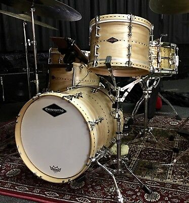 "Craviotto Drums Bop Kit Solid Ash (Esche) mit 12"", 14"" Toms & 16"" Bass Drum"