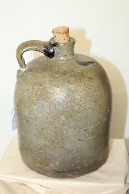 Antique Southern Pottery Jug 1/2 Gallon 8''