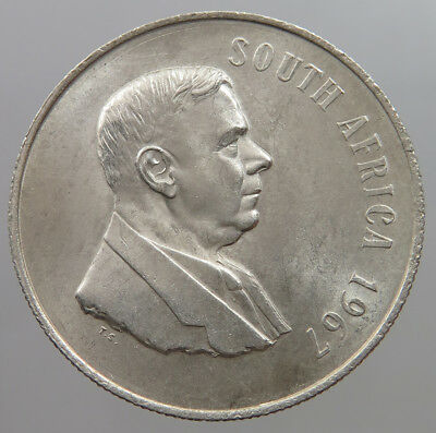 SOUTH AFRICA 1 RAND 1967  #pd 157
