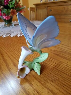 """Spectacular Herend Large """"Butterfly"""" Hand Painted Porcelain Figurine"""