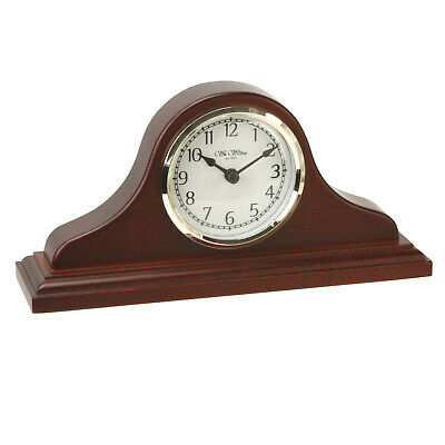 Napoleon Birch Wood Mantel Desk Clock with Arabic Dial