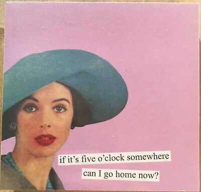 Fun Sticky Notes by Anne Taintor - Five O'clock Somewhere Funny Office Gag Gift