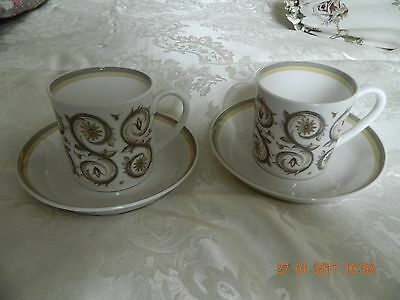 Wedgewood cups saucers in Venetia C 2039 pattern by Susie Cooper signed