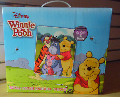 "Winnie The Pooh Disney Royal Plush Throw Bed Blanket Soft & Warm 40"" X 50"""