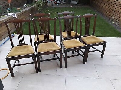 set of 6 antique dining chairs, chippendale style