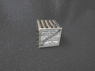Antique Toilet Pins W/Glass heads - Complete cube, made in Germany