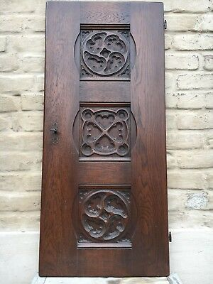 A Stunning Large Gothic Door panel in wood