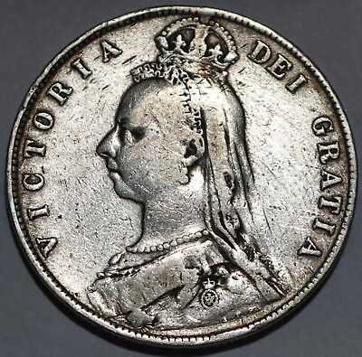 Great Britain Silver Half Crown 1890 Free Shipping