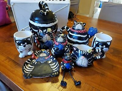 8 pieces - Crazy Cats Teapot Set - NEW
