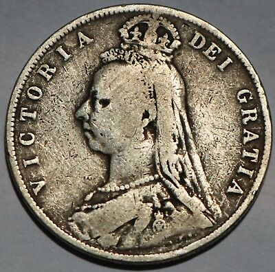 Great Britain Silver Half Crown 1892 Free Shipping