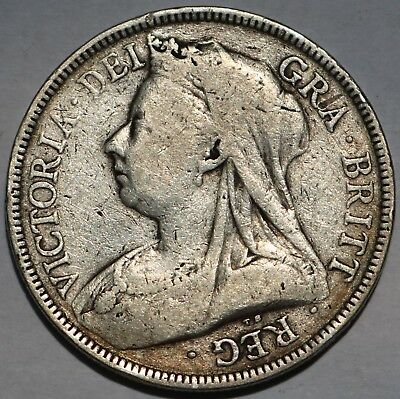 Great Britain Silver Half Crown 1893 Free Shipping