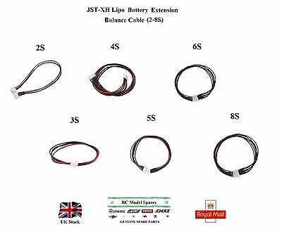 LiPo Battery Extension Balance Cable Lead 20-30cm JST-XH Turnigy Zippy Nanotech