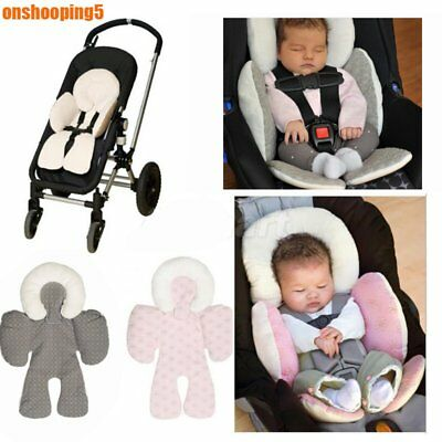 Newborn Baby Car Seat Stroller Cushion Pad Liner Mat Head Body Support Pillow PM