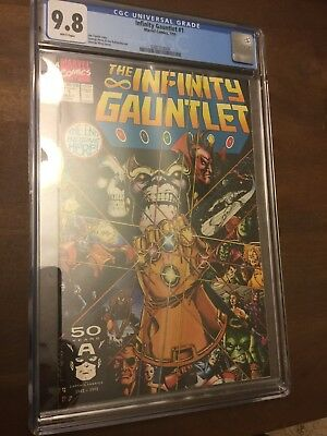 Marvel's The Infinity Gauntlet #1-6 (1991). 2 are CGC 9.8 NM+ and 4 are 9.6 NM+