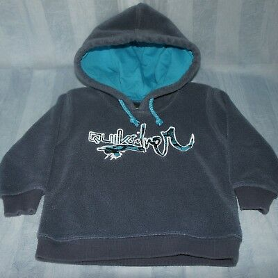 QUIKSILVER Boys  Size 0, Windcheater Hoodie Jumper Grey Blue Unisex 6-12 mths