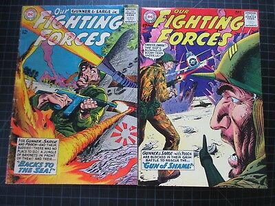 Dc Our Fighting Forces #79,84 Gunner And Sarge 1963