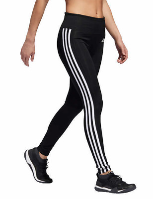 Adidas Women's 3 Stripe Tights Pants Black/White New With Tags!