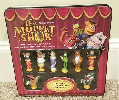 Jim Henson's The Muppet Show Deluxe Collector's Chess Set Tin 2003