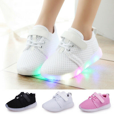 Sneakers Popular Luminous Shoes Led Casual Kids Girls Sport Lace Light Boys Up