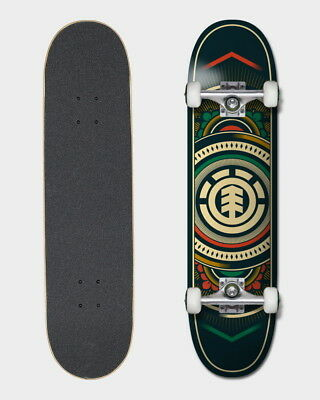 """Element Skateboard Complete Hatched RED GREEN 8"""" Pre-Assembled FREE POST"""