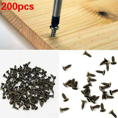 200pc Micro Screws Round Head Self-tapping Small Phillips Cross Bolts Wood Screw