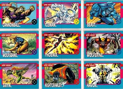 1992 X-Men Complete Basic Trading Card Set