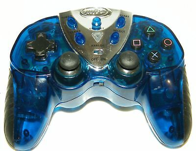 Intec Blue Wireless PS2 Controller, Rechargeable