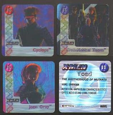 2000 X-MEN MOVIE ACTION Brotherhood of Mutants FLIPZ LENTICULAR TRADING CARD SET