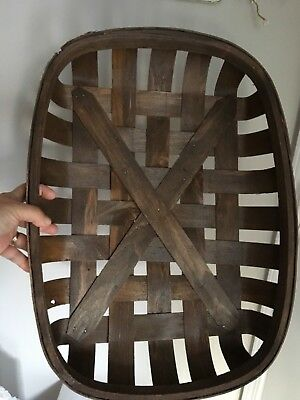 Tobacco Basket Reproduction Farmhouse Country Mantle Kitchen Table Rustic Wall