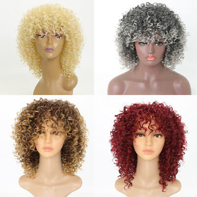 Short Hair Best Synthetic Heat Resistant Afro Kinky Curly Wig for Black Women