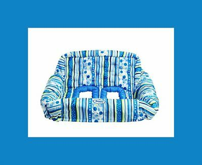 Boppy Protect Me Blue Stripe Quilted Shopping Cart/highchair Liner Msrp $39.99