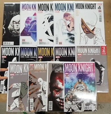 Moon Knight 1-14 First Prints Marvel Comics Nm Complete Set Run Jeff Lemire