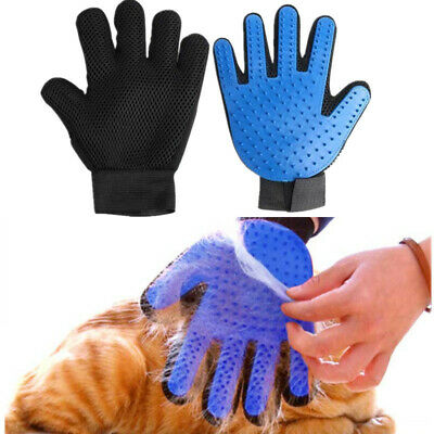Pet Dog Cat Grooming Glove Dirt Hair Fur Remover Brush Gentle Deshedding Glove