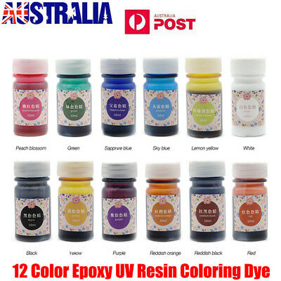 12 Bottles 12 Color Epoxy UV Resin Coloring Dye Colorant Resin Pigment Craft UE