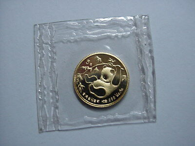 1985 1/20th OZ OUNCE GOLD 5 YUAN CHINA COIN BU IN ORIGINAL GOVT SEALED PLASTIC !