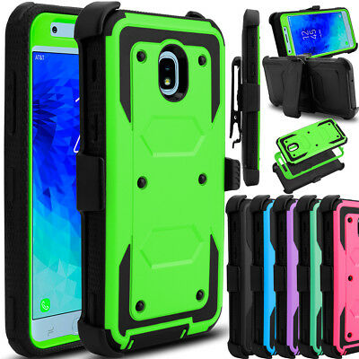For Samsung Galaxy J3 V 2018/Achieve/Orbit Hybrid Clip Holster Stand Case Cover