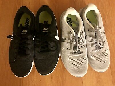 Lot Of 2 Black Gray Nike Free RN Womens Running Shoes 9