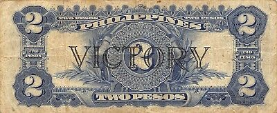 Philippine  2  Pesos  ND.1944  P 95a  Victory Series  Circulated Banknote jw618M