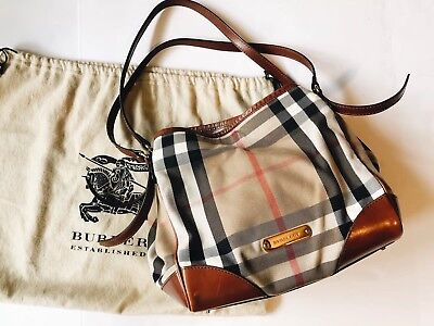 1197c92725ca BURBERRY BRIDLE HOUSE Check Small Canterbury Tote Tan -  365.00 ...