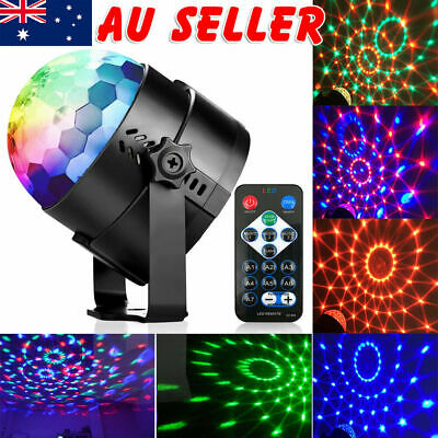 USB RGB LED Disco Ball DJ Party Light Effect Strobe Remote Auto Sound Activate E