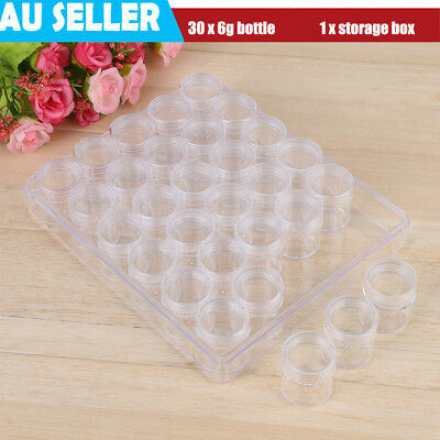 1PC Plastic Clear Jewelry Bead Organizer Box Storage Container Case Craft Tool