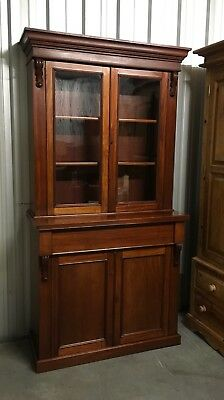 victorian glazed bookcase, Antique beautiful  Standout Piece Delivery Poss