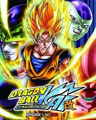 DVD ENGLISH DUBBED Dragon Ball Kai ( Vol 1-167 End ) Complete Box Set