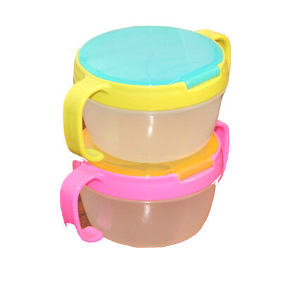 Non-Toxic Baby Kids Feeding Bowl Anti-sprinkle Fruit Cookie Snack Food Cups Dish
