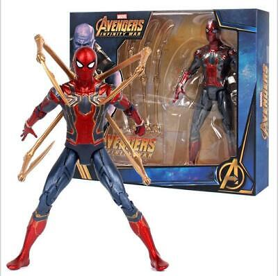 7'' Iron Spiderman Action Figure Marvel Avengers 3 Infinity War Spider-Man Toy