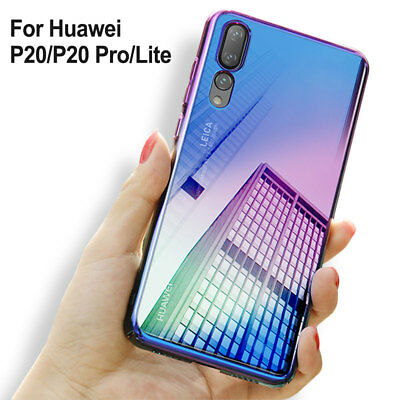 For Huawei P20 Pro Lite Stylish Hybrid Shockproof PC Hard Case Transparent Cover